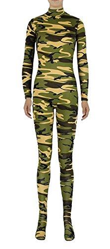 Icegrey Zentai Spandex Ganzkörperanzug Anzug Lycra Bodysuits Kostüm Camo Grün-Erwachsener 3XL