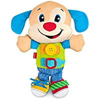 Fisher-Price- Disney Peluche Perrito vísteme y aprende, (Mattel FBP25)