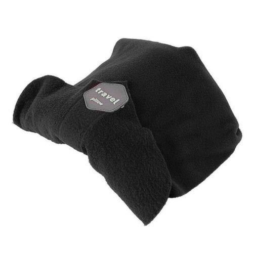 Trtl Pillow - Almohada supersuave de viaje con soporte para el cuello probada científicamente, lavar a máquina, color Negro