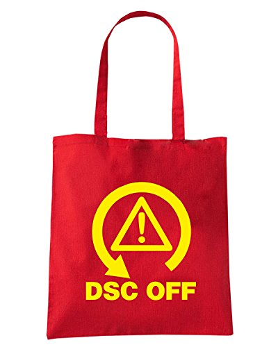 T-Shirtshock - Borsa Shopping TB0444 DSC OFF Track Day Rosso