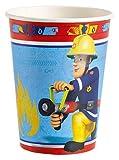 52-teiliges Party-Set Feuerwehrmann Sam - Teller Becher Servietten für 16 Kinder -
