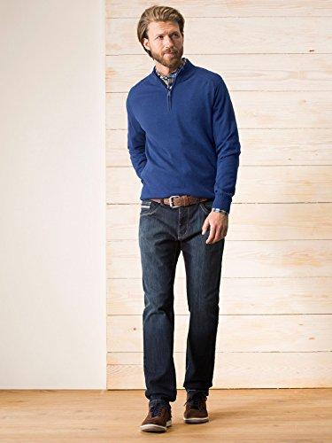 Walbusch Herren Cashmere-Pullover einfarbig in den Farben Blau, Grau, Rot, Weinrot, Grau Melange Blau