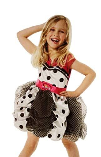 Pop Kostüm Künstler - narrenkiste R883871-L schwarz-weiß-pink Hannah Montana Kleid-Kostüm Gr.L