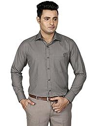 [Sponsored]Zeal Men's Blue And Grey Formal Shirt