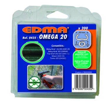 Agrafes Omega 20 galva vert paquet de 200 43501 EDMA