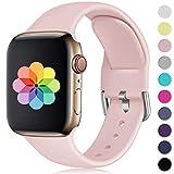 HUMENN Compatible avec Apple Watch Bracelet 38mm 42mm 40mm 44m, Sport en Silicone Doux avec Boucle Remplacement Bracelet...