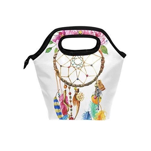 JSTEL - Bolsa de almuerzo, diseño de atrapasueños, bolsa de almuerzo, bolsa de almuerzo, contenedor de alimentos, para viajes, picnic, escuela, oficina