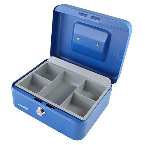 HMF 10120-05 Caja de caudales 20 x 16 x 9,5 cm, azul