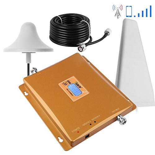 Yuanj Amplificatore Segnale Cellulare 3G GSM 900/2100MHz Amplificatore per cellulare WCDMA con antenne per TIM WIND VODAFONE 3