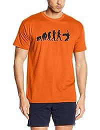 Shirtzshop Herren T-shirt, Orange, XL, sshop-evomaler-t