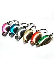 FMYXZ 1 pcs Cucharas / Cebos Cucharas Colores Aleatorios 2.5 g Onza mm pulgada,Plástico duro Pesca de baitcasting