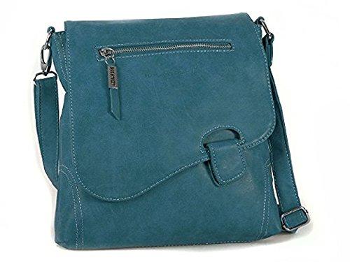 Bag Street Bolso de Hombro para Mujer Azul ma