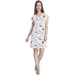VERO MODA Women's Shift Dress (1819233003_Snow White_Large)