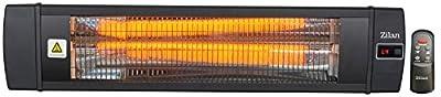 Karbon Heizstrahler | Terrassenstrahler | Heizgerät | Infrarotstrahler | 2000 Watt | Display | Karbonlampe | Timer | Fernbedienung | Spritzwasser geschützt | Überhitzungsschutz | 10.000 Stunden | von Zilan bei Heizstrahler Onlineshop