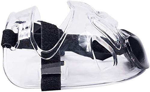 Txyfyp Cara Escudo Protección de Ojos Sports Kickboxing Desmontable Ajustable Tiras Boxeo Taekwondo Máscara Equipo Protector Casco Cubierta Completa Transparente Karate