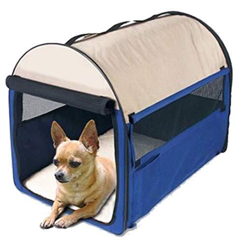 Cuccia per cani pet puppy kennel, morbido recinto pieghevole per interni, dimensioni multiple e colori disponibili per cani, gatti e altri animali domestici (colore : blu, dimensioni : 46×36×41cm)