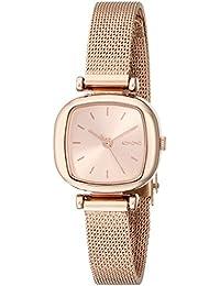 Komono Reloj de cuarzo para mujer con oro rosa esfera analógica pantalla y pulsera de oro rosa kom-w1241