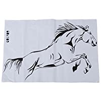 SODIAL(R) Horses Swagger glass living room interior trend for home decoration PVC wall stickers