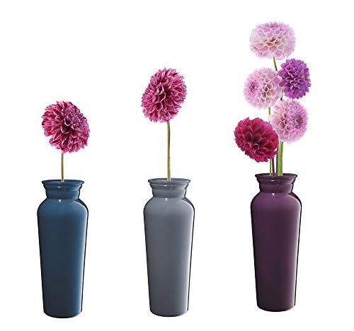 fenstertattoo blumen 6 x Fenstersticker Blumen in Vase, Fensterbilder, Windowsticker, Fensterdeko, Fliesensticker, Fliesenaufkleber, Fenster Tattoo, Fensterfolie, 3 verschiedene Designs, mehrmals wiederverwendbar
