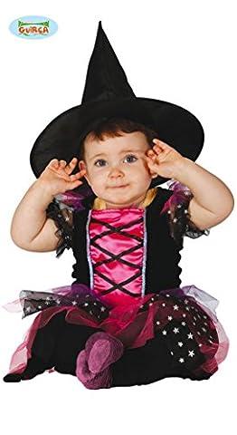 Süße kleine Hexe Karneval Halloween Party Baby Kostüm Sterne pink Gr. 74 - 92, Größe:86/92