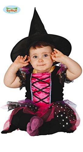 Süße Kleine Hexe Karneval Halloween Party Baby Kostüm Sterne Pink Gr. 74 - 92, Größe:86/92 (Baby Halloween-kostüme Schönes)