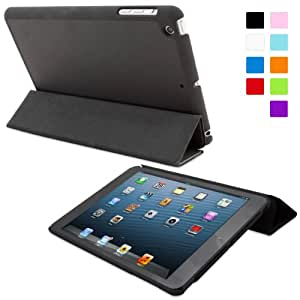 Snugg iPad Mini 1 / 2/ 3 Ultra Thin Smart Case in Black - Flip Stand Cover with Auto Wake and Sleep for Apple iPad Mini, iPad Mini 2 and iPad Mini 3