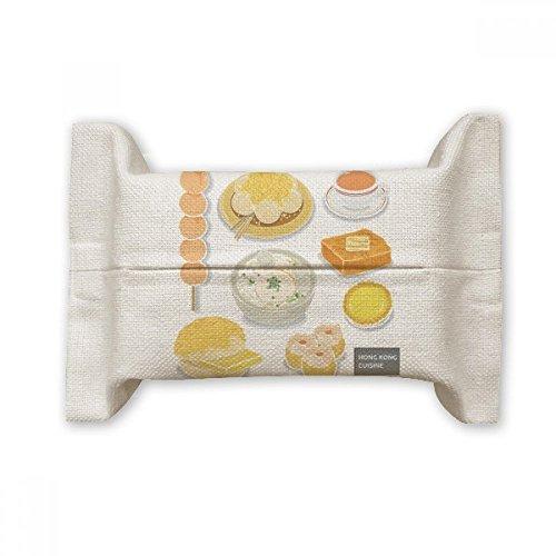 DIYthinker Hong Kong Lokale Küche Lebensmittel-Baumwollleinengewebe Papierabdeckung Halter-Speicher-Behälter, Geschenk 17x27cm Mehrfarbig -