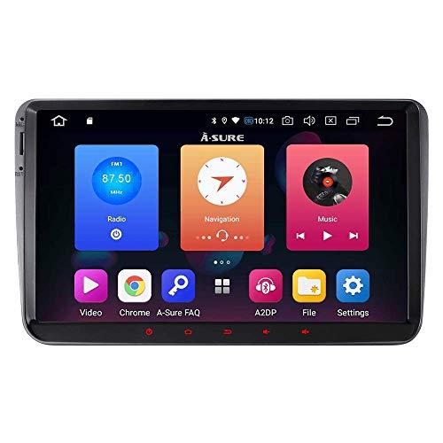 Junhua 9 Zoll Android 9.0 32GB DVD GPS Autoradio für VW Passat Touran Polo Golf Skoda Fabia GPS Navigation Radio DAB+ Mirrorlink WiFi 4G LTE Spiegelfunktion OBD2 Video-Anleitung