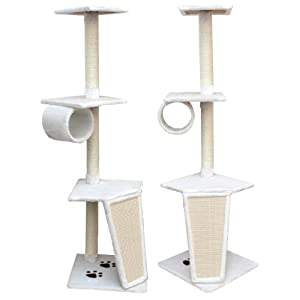 "Cat Tree ""Lars"" 158 cm Scratching Post Cat Tree Activity Centre Pet Furniture Cat Scratcher Natural Sisal"