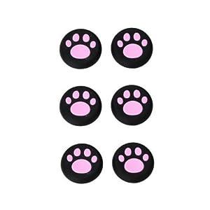 OSTENT 6 x bunte Analog Joystick Button Protector kompatibel für Xbox One Controller – Farbe Pink