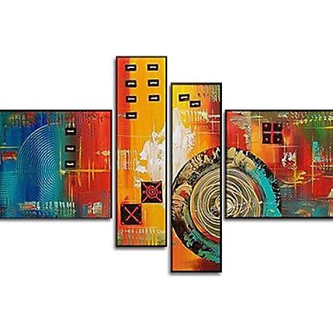 BBSLT-abstract pittura quattro pannelli