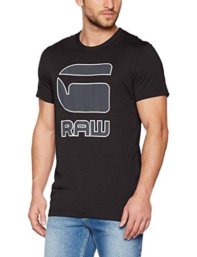G-STAR RAW Herren T-Shirt Cadulor R T S/S Schwarz (Black 990)