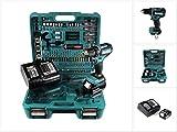 Makita DDF 485 STTK Akku Bohrschrauber 18V 50Nm + 5,0 Ah Akku + Ladegerät + 101 tlg. Werkzeugset