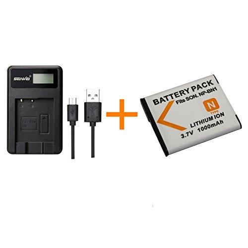 1 Stück 1000 mAh BN1 Akku mit LCD-Ladegerät Ladegerät für Sony DSC-WX100 WX9 WX50 WX7 W510 W320 W310 W330 TX10 TX100 T110D Kamera ...
