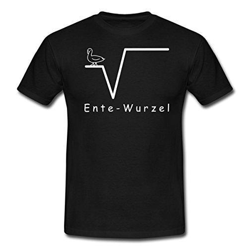 Spreadshirt Mathe Ente Nte Wurzel Nerd Männer T-Shirt, L, Schwarz (Schwarz T-shirt Ente)