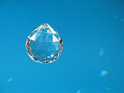 Geschenkbox mit Kristall Glas Kugel 40mm SPECTRA® CRYSTAL von Swarovski - für Lüster und Kronleuchter - Fenster Dekoration - Feng Shui - Regenbogeneffekt von premium-kristall© Geschenkboxen auf Lampenhans.de