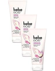 bebe More Intensiver Body Balsam / Reichhaltige Feuchtigkeitspflege mit Shea Butter für trockene Haut / 3 x 200ml