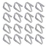 Missmore Confezione da 16 clip per tovaglia, supporto per tovaglia in acciaio inox, morsetti per tovaglie grandi