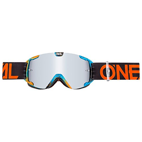 O'Neal B-30 Kinder Goggle Ink Kinder Crossbrille Motocross DH Downhill MX Anti-Fog Glas Youth, 6032-10, Farbe orange