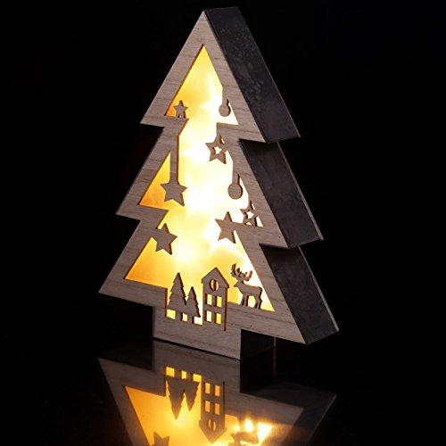 Decorativa LED luz–árbol de Navidad escena de madera hogar Regalos PDS