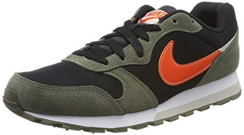 Nike MD Runner 2 Es1, Zapatillas de Running para Asfalto para Hombre, Multicolor (Black/Team Orange/Cargo Khaki/Light Bone 003), 43 EU