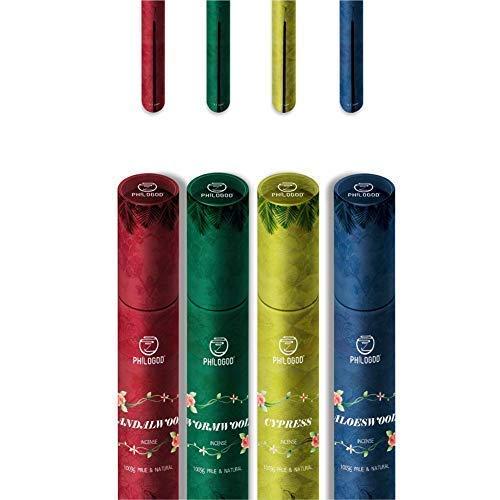 Öl-brenner-teile (Aromatherapie Räucherstäbchen für Linderung von Stress, Migräne und Zen-Meditation, Räucherstäbchen-Brenner-Stütze inklusive, reine, pflanzliche tibetische Räucherstäbchen für die Homöopathie)