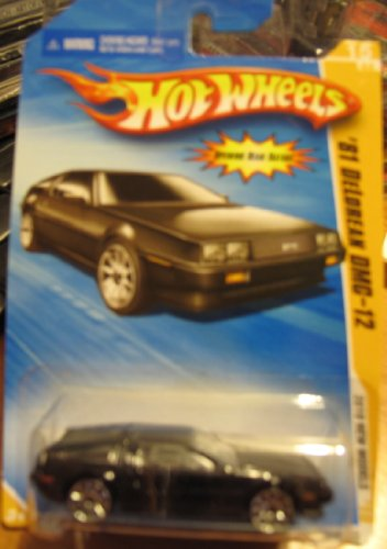 Hot Wheels 2010 New Models '81 DeLorean DMC-12 BLACK #015
