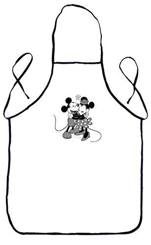 Grembiule da cucina mickey mouse & minnie w & b
