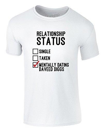 Brand88 - Mentally Dating Daveed Diggs, Erwachsene Gedrucktes T-Shirt Weiß/Schwarz