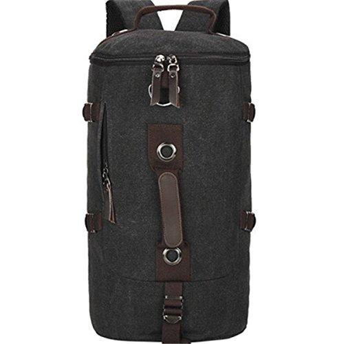 BULAGE Taschen Leinwand Lässig Mode Schultertaschen Handtaschen Schulranzen Outdoor Sport Wandern Radfahren Camping Wandern Black