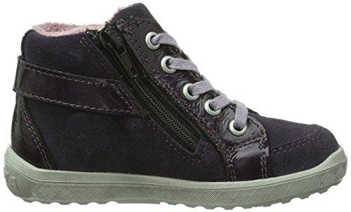 Ricosta Gabby, Sneaker alta Bambina Rosso (Rot (blackberry 381))