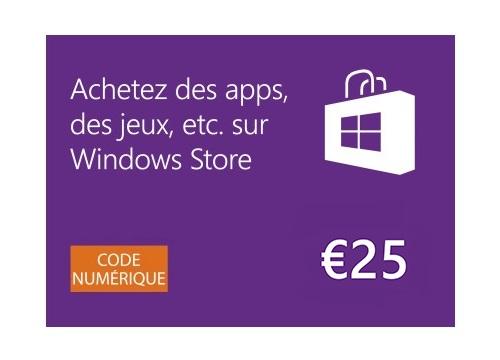Windows Store - Carte Cadeau de 25 EUR [Code Digital]