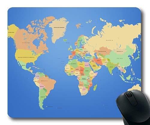Foto de Yanteng Alfombrilla de ratón de Mapa de Novedad, Escritorio del Mundo Alfombrilla de ratón de Mapa de YT 007