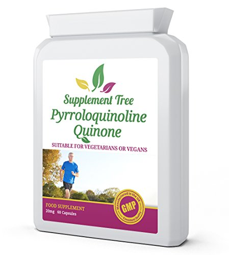PQQ Pyrroloquinoline Quinone 20mg 60 Vegetarian Capsules - Helps Maintain Healthy Mitochondria Levels, Healthy Cardiovascular & Cognitive Function - UK Manufactured GMP Assured Quality
